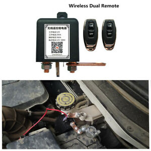 200A Dual Remote Master Battery Disconnect Power Kill Switch For 12V Car Hot Rod