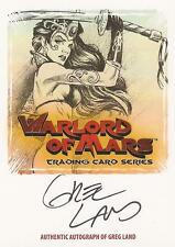 "Warlord of Mars - WMA-GL ""Greg Land"" Auto/Autograph Card"