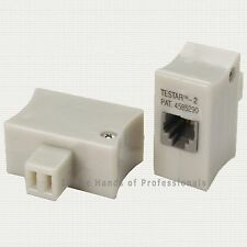 Siemon TESTAR-2 66 Block to RJ-11 Adapter, 2-Wire