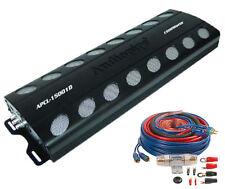 APCL1504 AUDIOPIPE 1500 Watt 4 Channel CAR AUDIO AMPLIFIER With Amp Install Kit