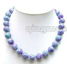Semi precious gemstone purple and pink mixed colour agate bead stone with a large catch choker necklace GF9y0xNO4