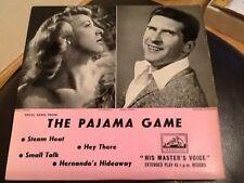 Très rare. vinyl e.p.. le pyjama jeu. Original London Cast. edmund hockridge