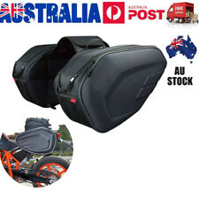 AU Universal fit Motorcycle Pannier Bags Luggage Saddle Bags W/ Rain Cover 36-58