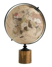 Vintage Wooden World Globes Ornament Globe on Wood Stand Plinth Ex Large 48cm