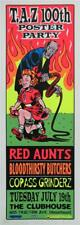 TAZ 100TH ROCK POSTER PARTY SILKSCREEN SIGNED RED AUNTS COPASS GRINDERZ
