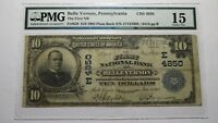 $10 1902 Belle Vernon Pennsylvania PA National Currency Bank Note Bill Ch. #4850