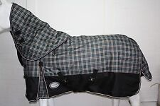 AXIOM 1800D BALLISTIC TARTAN/BLACK 300g HORSE RUG w/h DETACHABLE NECK RUG - 6'0