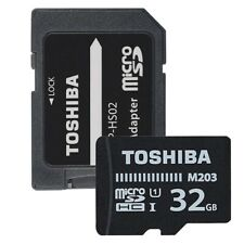 Genuine Toshiba 32GB Micro SD + SD Adapter Class 10 UHS-I 100MB/s TF Memory Card