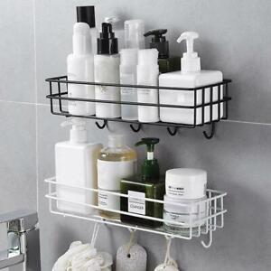 Wall Mounted Bathroom Shelves Floating Shelf Shower Hanging Basket Accessories