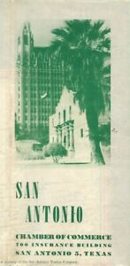 1947 SAN ANTONIO TRANSIT MAP Bus Routes Schedules Street Index Business Industry