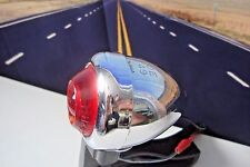 DH-49 Harley Bullet Signal Lamp Guide Red Fish Eye Lens Pan Knucklehead 49-69 R3