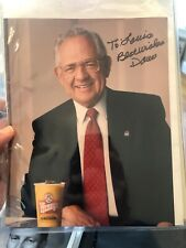 Wendy's Dave Thomas Autographed Picture 8x10 With Letter From Dave As Well D