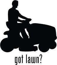 "Got Lawn Mowing Car Window Decor Vinyl Decal Sticker- 6"" Tall White"