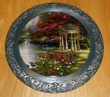Collector Plate Thomas Kinkade 25th Anniv Master Pewter Garden of Prayer Coa