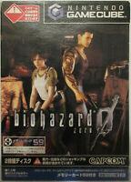 Biohazard 0 Zero Resident Evil (Nintendo Gamecube) Japan*