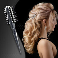 Women Round Hair Care Brush Hairbrush Salon Styling Dressing Curling Comb UK