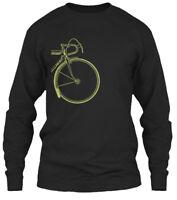 Two Sided Retro Bike Gildan Long Sleeve Tee T-Shirt