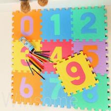 Large Kids Baby Floor Play Mats Complete 0-9 Number Soft EVA Foam Jigsaw Puzzle