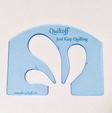 "machine quilting ruler, Feather, Thick 1/4"". Fluorescent Blue"