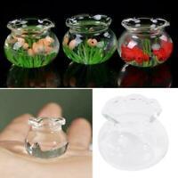 1:12 Mini Simulation Dollhouse Glass Fish Tank Model Accessories Gift House P2B0
