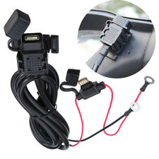 12V Moto Car USB Alimentatore Caricatore Supply Charger Cable Telefono cellulare