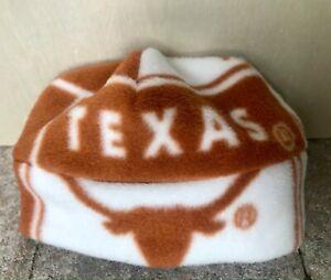 Texas Longhorns Fleece Hat - sizes Newborn Baby to Girls - teens Adult Men Women