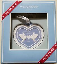 Wedgwood Ornament 2017 Our First Christmas Blue - New in Box