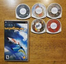 LOT PSP Games & Movies lot of 5 Wipeout Pure Iron man Warhammer 40K CARS