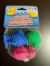 3-PACK ANIMAL BATH TOYS NIB BABY INFANT TODDLER KIDS POOL! FISH TURTLE DOLPHIN