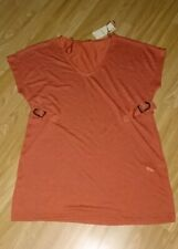 Papaya Brick Short Sleeve Tunic Size 12