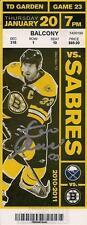 Zdeno Chara Boston Bruins Signed Autographed 2011 Cup Season Vs Sabres Ticket