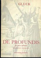 Gluck : De Profundis - Klavierauszug mit Text