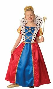 Girls Royal Queen Costume Renaissance Fairy Tale Child Size Medium 8-10