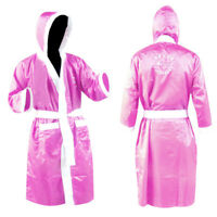 Ladies & Girls Boxing Gown Robe Martial Art NEVER SURRENDER LOGO Pink