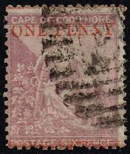 Cape of Good Hope 1874 1d. on 6d. deep lilac, used (SG#32)