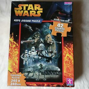 STAR WARS 42 Chunky pieces Jigsaw Puzzle 2005 Ages 4+ 240 x340 mm ROBOTS SPACE