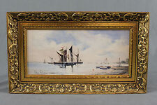 Oil Painting Pin Mill Suffolk by Arthur Pank 1918-1999