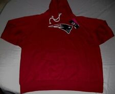 New England Patriots Fashion Pullover Hoodie Ladies Red Plus Sizes Womens NFL