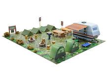 1/48 O Scale Scout Camp & Camper Diorama Building Kit Fits Lionel, Bachmann