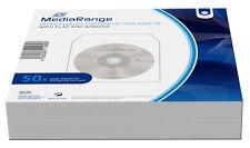 50 Mediarange Mini Papiertaschen mit Fenster für je 1 8 cm BD / CD / DVD wei�Ÿ