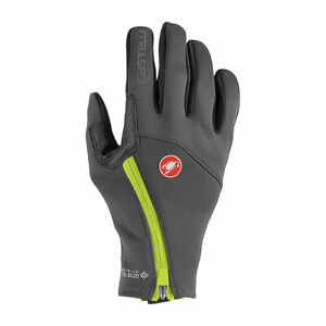 NEW Castelli MORTIROLO Windstopper® Winter Cycling Gloves, Dark Gray, Large