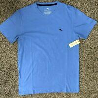 TOMMY BAHAMA Men's Sz XL Blue Black Marlin Short sleeve crew neck T-Shirt NEW
