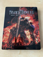 BLURAY + BLURAY BONUS  TRANSFORMERS 4 AGE OF EXTINCTION UK FR STEELBOOK