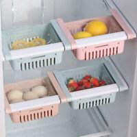 CW_ Slide Freezer Fridge Space Saver Shelf Holder Storage Box Organizer Rack Kit