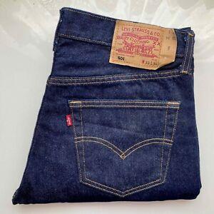 #Vintage# LEVI's Original Jeans Hose Denim 501 W33 L34 dunkel blau Klassiker