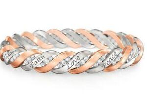 The Bradford Exchange Healing Waves Copper Bracelet W/ 50 Swarovski Crystals