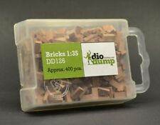 DioDump DD126 Bricks 1:35 scale -  400 red plaster bricks diorama scenery