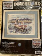 Dimensions Waterlily Blossoms Stamped Cross Stitch 2000