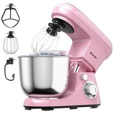 Costway 5.3 Qt Stand Mixer Kitchen Food Mixer 6 Speed w/ Dough Hook Beater Pink