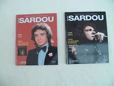 LOT de 2 livres CD  La collection officielle signé Michel Sardou